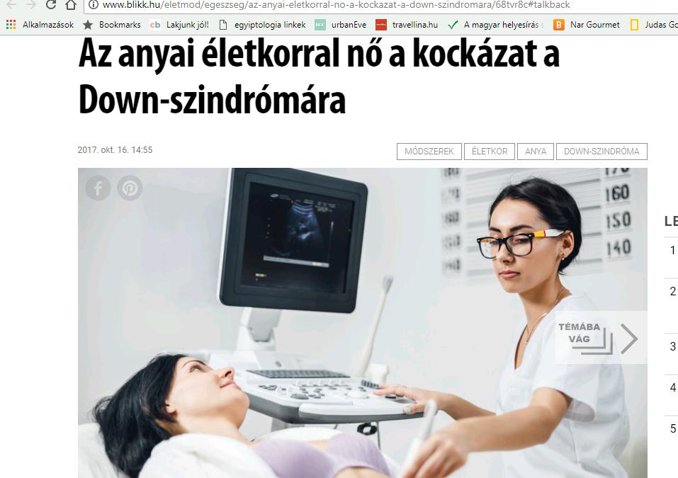 A Down-szindrómáról a Blikkben